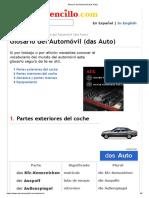 Glosario del Automóvil (das Auto)