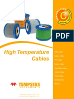 High Temperature Cable New Catalogue for thermocouple and instrumentation