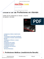 Glosario de las Profesiones en Alemán