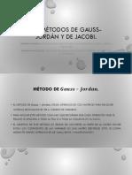 5.5 Métodos de Gauss-Jordán y de Jacobi.