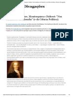 """Rousseau, Voltaire, Montesquieu e Diderot_ """"Nos bastidores da Filosofia"""" (e da Ciência Política).pdf"""