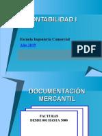 Presentación de documentos mercantiles.