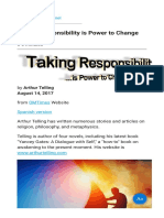 Taking Responsibility is Power to Change