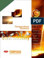 Temperature sensors for Steel Industry