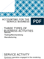 Chapter 2 Accounting for the Service Business