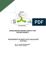 Procedimiento Montaje Canalización Eléctrica rev 0