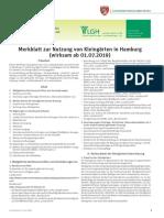 Merkblatt zur Nutzung von Kleingärten in Hamburg (Stand 2019)