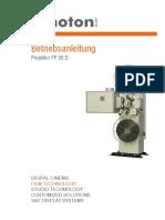 Kinoton FP30D Betriebsanleitung