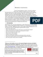 01 - 'PREPARING FOR LITIGATION' - FEDERAL PRACTICE MANUAL FO