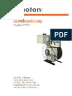 Kinoton FP25D Betriebsanleitung