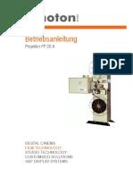 Kinoton FP20A Betriebsanleitung