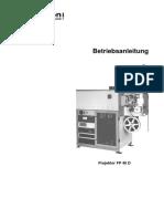 Kinoton FP40D Betriebsanleitung