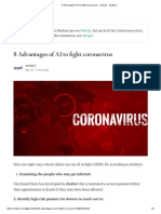 8 Advantages of AI to Fight Coronavirus - Venkat k - Medium