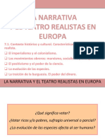 Sesión 7.1. Contexto histórico y cultural. Características de la novela realista.