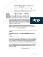 Parctice Problems - Case Module 3 - Facility Location (Quiz 3)