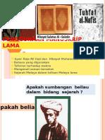 PENGGUNAAN MANUSKRIP  LAMA