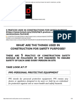 5 PRATICES USED IN CONSTRUCTIONS FOR SAFETY PURPOSE -LCETED