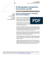 A Demographic Perspective of Economic Growth Credit Swisse