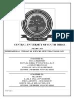 International custom as sources of international law