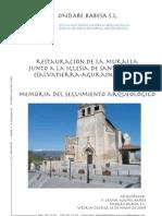 Restauración de la Muralla junto a la Iglesia de Santa María (Salvatierra-Agurain, Álava). Memoria del seguimiento arqueológico