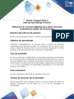 Aprendizaje Práctico- Cálculo Integral