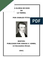 LA GLORIA DE DIOS  -- CHARLES FITCH