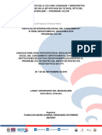 CONVOCATORIA III FERIA DEPARTAMNETAL 2018