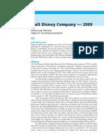 01 Walt Disney Company — 2009