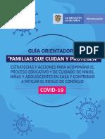 Orientaciones Para Familias Cuidando y  Protegiendo