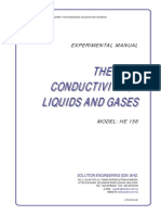 (Thermal Conductivity of Liquid and Gases) EXPERIMENTAL MANUAL
