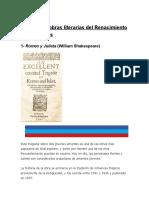 mis Principales obras literarias del Renacimiento y sus autores