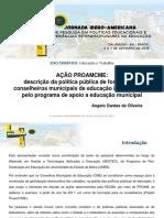 AÇÃO PROAMCME descrição da política pública de formação de conselheiros municipais de educação implementada pelo programa de apoio a educação municipal.pdf