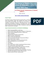 International Journal of Mobile Network Communications & Telematics (IJMNCT)