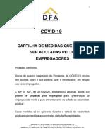 01b - DFA - Comentários - MP 927 928 2020 - Medidas Pandemia COVID-19 - Cartilha Trabalhista.pdf