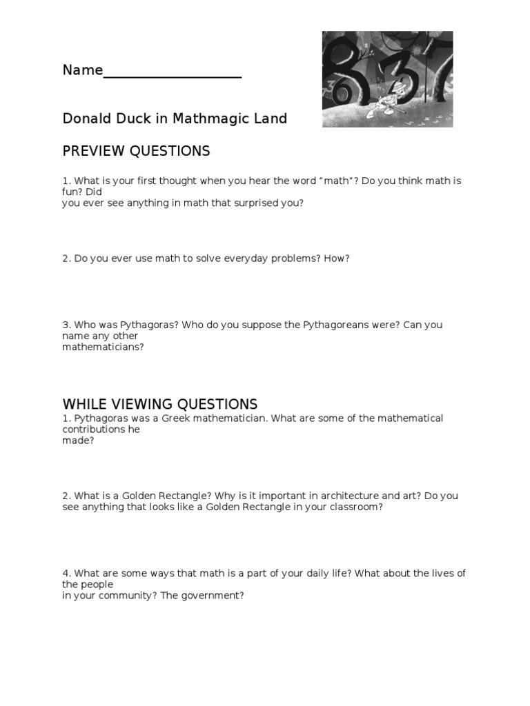 Uncategorized Donald Duck In Mathmagic Land Worksheet collection of donald duck mathmagic land worksheet ommunist in andrewgarfieldsource
