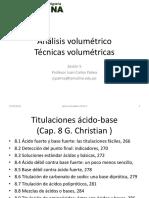 Sesion 5. Análisis volumétrico y ácido-base