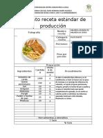 Formato receta estándar de produccion 1