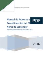 Manual de Procesos y Procedimientos del CRUE