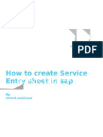SAP- Service Entry Sheet