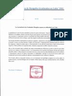 Carta Al ICAP de La Asociación de Mongoles Graduados en Cuba