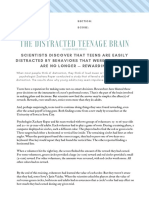 THE DISTRACTED TEENAGE BRAIN by%C2%A0Alison Pearce Stevens