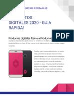 PRODUCTOS DIGITALES 2020 - GUIA RAPIDA!