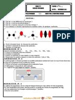 Série d'exercices N°5 - Chimie séries  molécules -ions polyatomiques - corps pur a structure ionique - 1ère AS  (2011-2012) Mr ELMESSAOUDI BECHIR