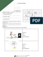 Série d'exercices N°3 - Sciences physiques - Les actions mécaniques - 1ère AS (2018-2019) Mr BARHOUMI Ezedine