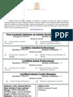 Distance Learning Programs Brochure.