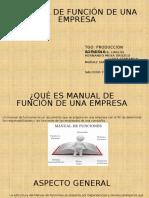 Manual de función de una empresa