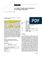 2.2) Finite Element Analysis of Plastic Collapse and Crack Behavior of Steel Pressure Vessels and Piping Using XFEMs