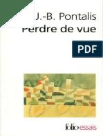 Pontalis - Perdre de vue-Folio (1999)