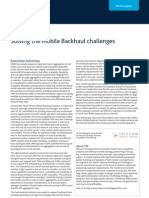 Solving the Mobile Backhaul challenges