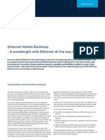 Ethernet Mobile Backhaul